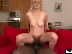 Blonde MILF and a black stick