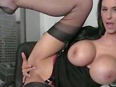Sexy Secretary Masturbating