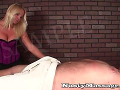 Masseuse loves to give dick slaps