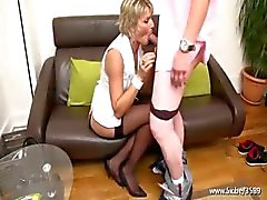 Soisic a French mature fucked in a threesome