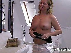 Stiefsohn der Beim Masturbieren erwischt Durch seine Blondine Geile Stief