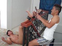 Gay Asian Twink Warren Gets Tickled