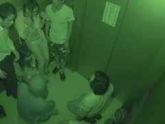 Japanese romp in an elevator