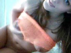 Brunette Goddess strips for Cam