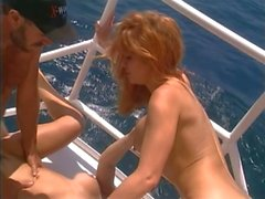 British slut Yvonne gets fucked on a yacht
