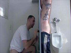Gloryhole with a skater