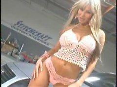 sandee westgte in white dress and pink panties