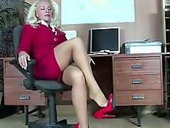 des collants diaboliquement sexy image photo blonde