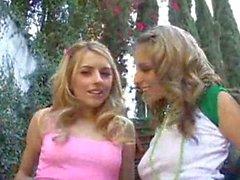 Lexi Belle ve Alyssa Hall bir horoz paylaşmak