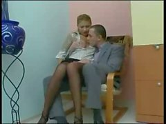 Office sex with leggy secretary