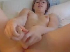 Cute Teen With Glasses Suck & Fuck Dildo (sma