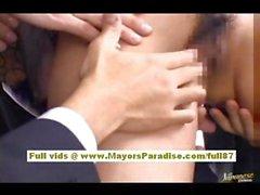 Нао Йошизаки сексуальный азиатский подростков на шине