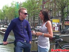 Fine dutch hooker ass jizzed by tourist