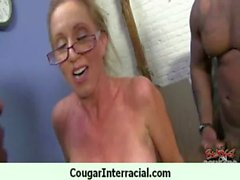 Horny cougar getting black monster cock 3
