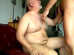 gay bear grandpa fucked cumming