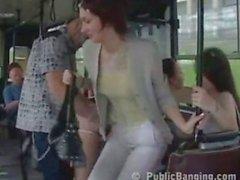 Pubblic sex in a bus
