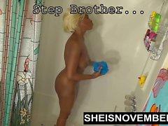 Black Step Schwester Junge Blonde Ebenholz Fuck Step Brother Ride