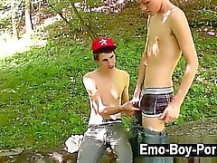 Twink sex Skylar West has been waiting in the woods for his kinky buddy