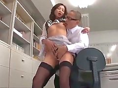 Office Lady Getting Her Nipples Sucked Pussy Licked Fingered Giving Blowjob For Guy In The Office