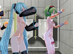 MMD 3 Cuties with one Squirting near the end GV00098