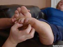 Tickling Anya's Size 13 Feet