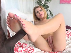 Alina West Drains a Black Cock and Gets Cum on Her Feet