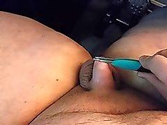 sacudindo muito pequeno dick com os tweezers