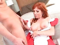 Meatpole munching maid Brittany OConnell is bush banged by the boss