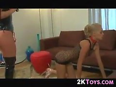 Lesbian Spanking And Kissing