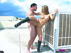Sexy Slut Nicole Aniston Gets Rooftop Dicking