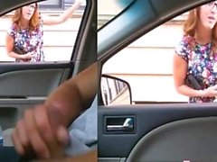 Handjob Überraschung Compilation Flash in Auto