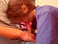 Teen girl lovingly sucks his moaning boyfriend