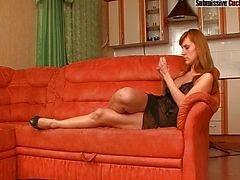 Olga humiliating her cuckold husband