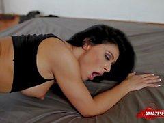 Brunette pornstar pov and cum in mouth