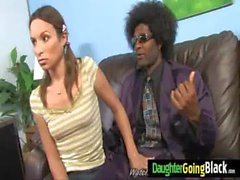 Watching my daughter nailed by black monster dick 3