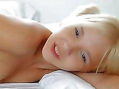 Cute teen Monroe pleasuring her pussy