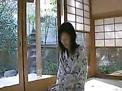 Sensual Oriental housewife gets naked and fulfills her need