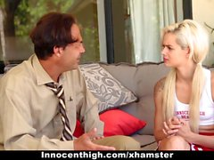 InnocentHigh - Petite Blonde Learns To Fuck and Cheer