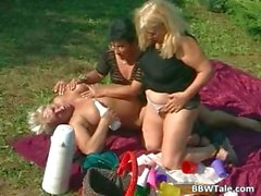 Horny mature lesbians enjoying in wet