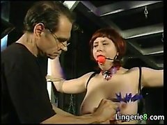 Busty Redhead Gets Abused