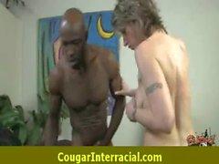 Interracial hardcore cougar sex 28