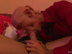 Transsexual cheerleader Danika Dreamz fucking guy s mouth