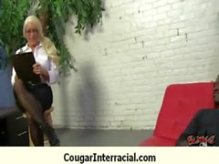 Busty cougar hottie bangs BBC 4