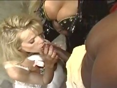 Massive black cock for horny blonde sluts