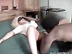 Classic Interracial Creampie