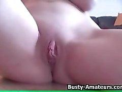 Busty Jennifer on masturbation compilation