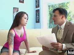 Baby faced Asian gets fucked passionately