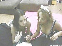 Alexis and Latin Maid cumblast