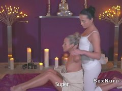 European lesbian massage and oral sex