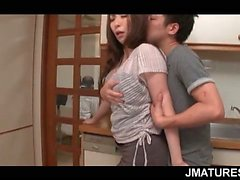 Asian redhead mature gets boobs rubbed and sucked good